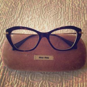 Miu Miu cats eye glasses frames